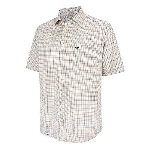 Hoggs of Fife Muirfield SS Shirt - Brown/Green Check