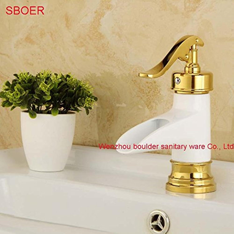 Jduskfl Faucet Kitchen Faucet Net Faucet Bathroom Faucet Newly Modern Style 3Pcs Bathroom Sink Mixer Faucet Arc Spout Basin Faucet Set Deck Mounted,White