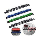 3-H Soporte para herramientas, portaherramientas para destornilladores y llaves, juego de pasadores de 4 piezas Parat(2 negros, 1 azul, 1 verde)