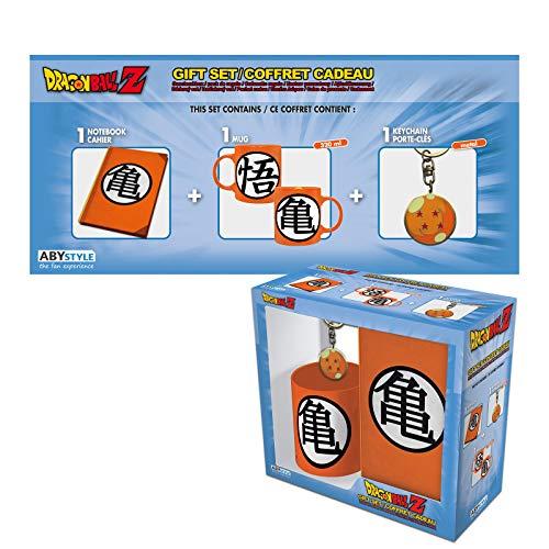 ABYstyle - Dragon Ball - Pack con Kame Símbolo - Taza 320 ml + Llavero + cuaderno