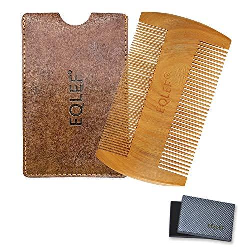 EQLEF® Beard Holzkamm, nicht statisch Grün Sandelholz handgefertigten Kamm, Schnurrbartkamm Holz (9 cm)