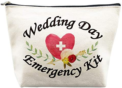 Wedding Day Emergency Kit for Bride Makeup Bag Bridal Shower Gifts Engagement Gifts Wedding product image