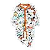Ropa Bebe Chandal Reborn Chico Conjunto para Niña Recien Nacido Pijama Nino Vestido Primavera Pascua 0-3 Meses Naranja