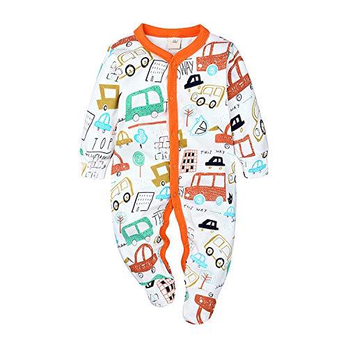 Nwada Pelele Bebe Niño Verano Pijama Niña Body Recien Nacido Mono Camisa Mameluco Disfraz Naranja Ropa 9-12 Meses