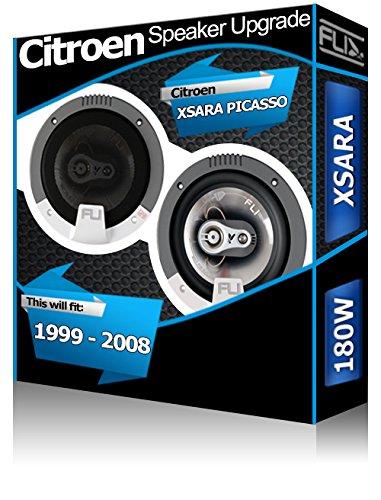 Fli Audio - Altavoces para Puerta Trasera de Coches Citroën Xsara Picasso (13 cm, 180W)