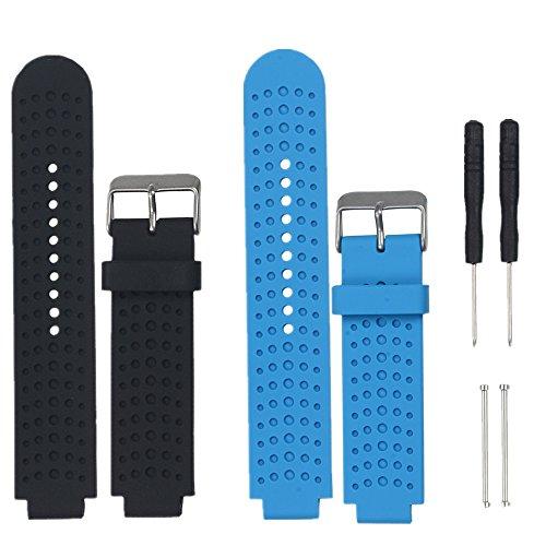 WEINISITE Armband für Garmin Forerunner 230/235/220/620/735(2 pcs)