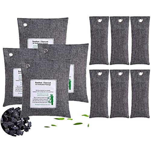 Learn More About KANGLE Activated Bamboo Charcoal Air Purifying Bags, 10packs Efficient Odor Elimina...