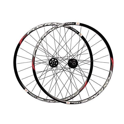 Ruedas Ciclismo,26 Pulgadas Aleación de Aluminio Peilin Antes de 2 Después de 4 Soporta 7-11 Velocidades Apto para Bicicletas MTB Juego Ruedas Bicicleta