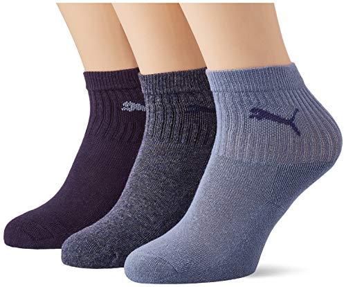 PUMA Unisex-Child Junior Sport (3 Pack) Socks, Denim Blue, 35-38