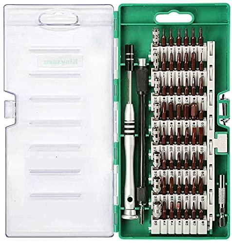 Juego de Destornilladores magnéticos 60 en 1, Juegos electrónicos, Juego de Destornilladores de precisión electrónicos, multifunción, Montaje, teléfono, Tableta, PC, Herramientas de reparación