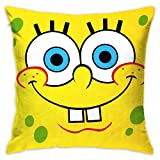 LIUYAN Pillow Cover Cushion Cover Cartoon Spongebob Squarepants Decorative Pillow Case Sofa Seat Car Pillowcase Soft 18x18 Inch