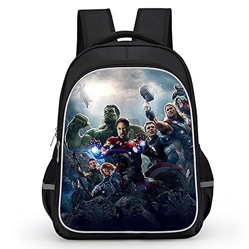 PRETAY Zaino Capitan America Avengers Supereroi Hulk Thor Iron Man Super Hero 3D Zaini Scuola Elementare (Color : D, Size : L(39CM))