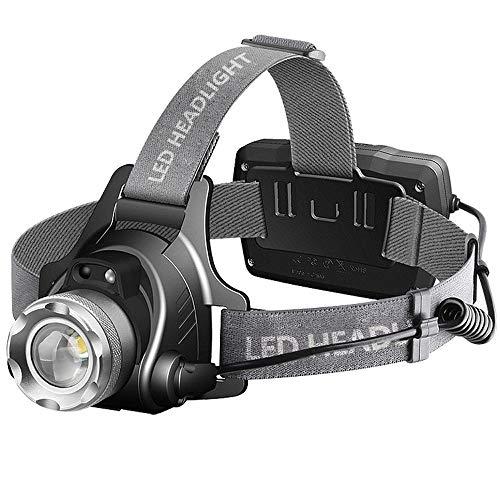 CGSJG Águila Ocular Zoom, Pesca Nocturna inducción de inducción luz de radicales de luz LED LED Linterna Xenón, Faros Brillantes de grieta, Faros Recargables, Faros cálidos
