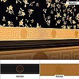 BRICOFLOR Tapetenbordüre | Barock-Tapete Tapete barock - Tapete Badezimmer-Tapete Bad - Gold | 5,00 x 0,13 m = Rolle 0.65 m² BRTAC42861GO