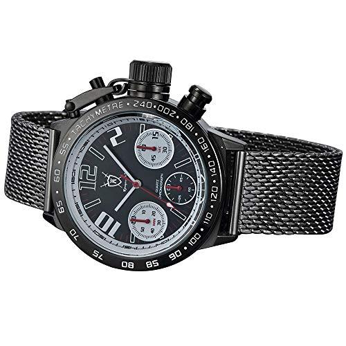 Konigswerk Men's Watch Black Bracelet Black Dial Chronograph AQ100120G