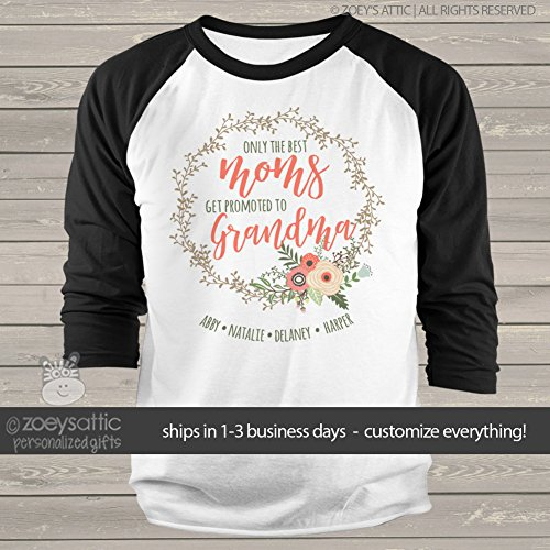 grandma shirt | only the best moms get promoted to grandma |...