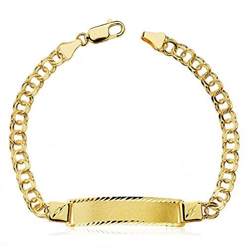 Alda Joyeros Esclava Oro Amarillo Iván 21 cm 18 Ktes - Personalizable, Grabado Gratuito.