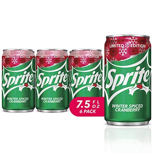 Sprite Winter Spiced Cranberry, Mini-Can, 7.5 Fl Oz ,Pack Of 6