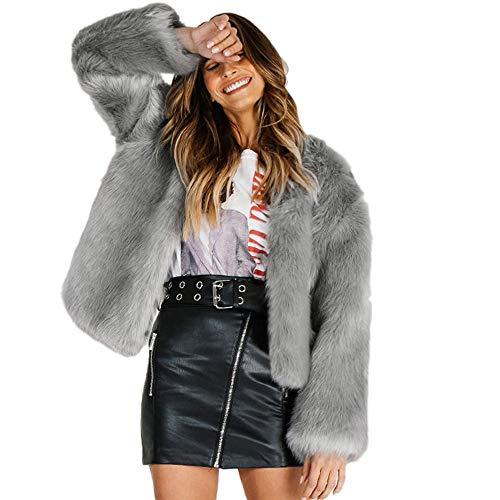 Becoler Mujer Damas Invierno Chaqueta Cálida Casual Abrigo Sólido O-Cuello Abrigo Prendas de Abrigo