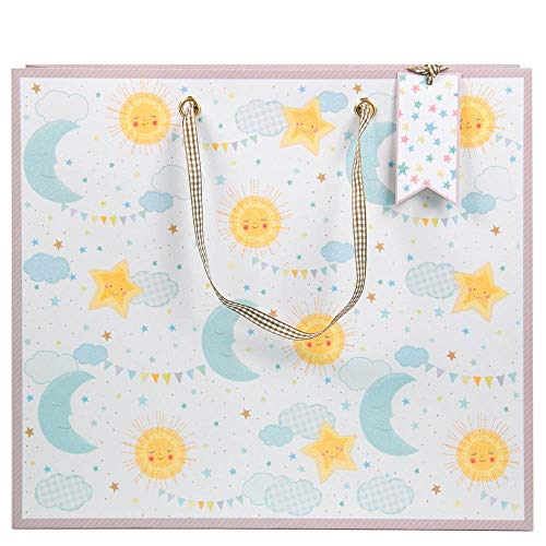 ARTEBENE Geschenktüte Geschenktasche Geschenkverpackung Baby Sonne,Mond & Sterne