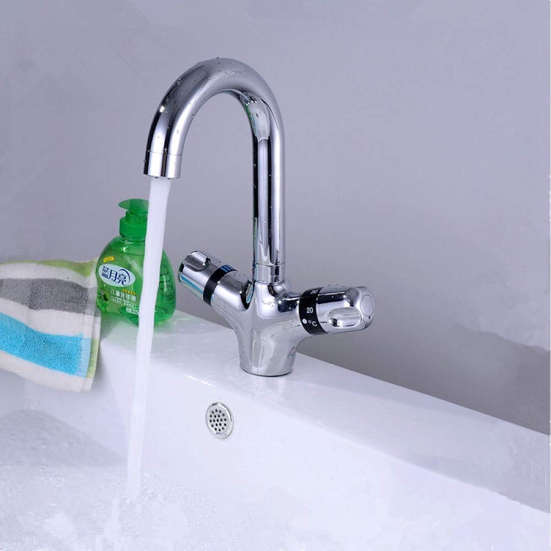 WSLWJH Badezimmer Küchenarmatur Hochwertige Messing Verchromt Küche Thermostat Wasserhahn, Thermostat Bad Mischbatterie Spüle Mischbatterie, Die Grundlegende Wasserhahn