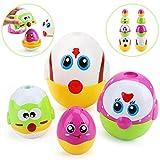 Amy & Benton Giocattolo Impilabile per Bambini, Montessori Giochi Educativi 1 2 3 anno, Matrioska Bambini Plastica Regalo di Pasqua (Uova aSorpresa)