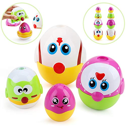 Amy amp Benton Easter Nesting Toys for Toddlers Stacking Eggs for Babies 1 2 3 Year Old