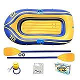 ZJDU Juego De Bote De Canoa para Kayak,Bote Inflable, Kayak Inflable,Barco De Pesca Engrosado,Barco A La Deriva Resistente Al Desgarro,con Paletas Y Bomba De Aire