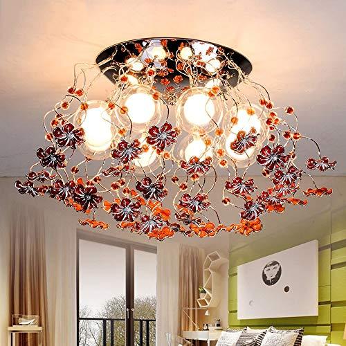 MKKM Sala de Estar Dormitorio Iluminación Del Pasillo, Luz de Techo Del Hogar Luz de Montaje Empotrado Ramas de Aluminio Lámparas de Techo Luz de la Sala de Matrimonio G4 * 8 (160W) Bombilla Incluida
