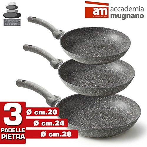 Accademia Mugnano - Set 3 Padelle in Pietra...