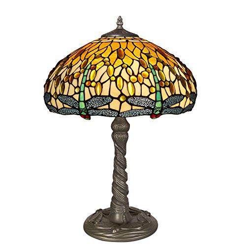 World Art TW60491 Lampes Style Tiffany, Multicolore, 59x41x41 Cm