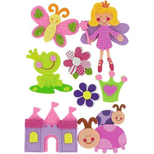 Fixo 68016700 Set aus 3D-Figuren aus EVA-Gummi, für Bastelarbeiten und Kinder, Prinzessin 2, Talla unica