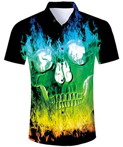 New Mens 100/% Silk Black Hawaiian Shirt Floral Camp Tropical Beach M L XL XXL