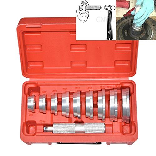 CNWOOAIVE 10 pièces Coffret pour Le Montage des Roulements et Joint Automobile Roulement de Roue Extracteur Séparateur Ensemble Moyeux