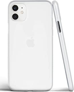 Egotude Ultra Thin Matte Anti Scratch Slim Fit Back Cover Case for iPhone 11 (iPhone 11, White)