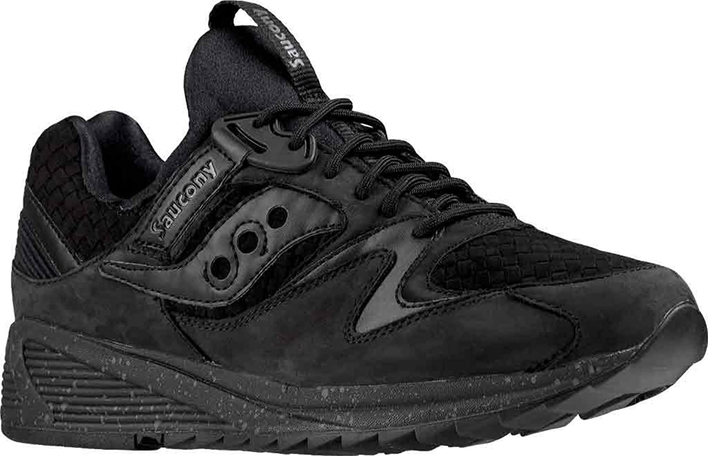 Saucony Men's Grid 8500 Basketweave Sneaker,Black,US 5.5 M