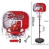 WH-LQJ Aro de Baloncesto for niños Interior Mini Tablero de aro de Baloncesto Colgante Ajustable Juego for niños Bomba de Pelota de Baloncesto ( Size : E Section 200cm )
