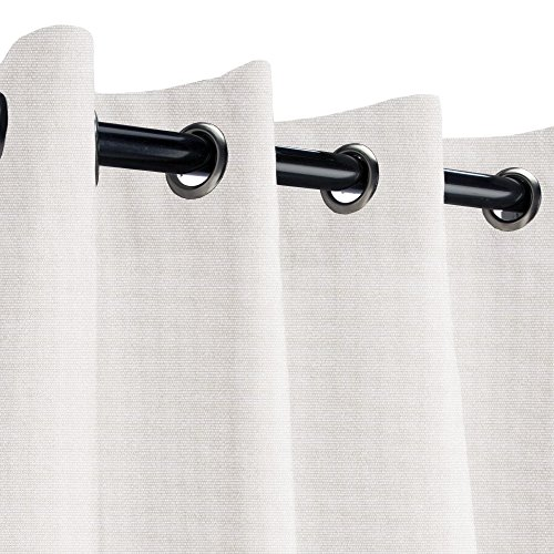 Sunbrella Linen Canvas Outdoor Curtain with Nickel Grommets 50 in. Wide x 96 in. Long