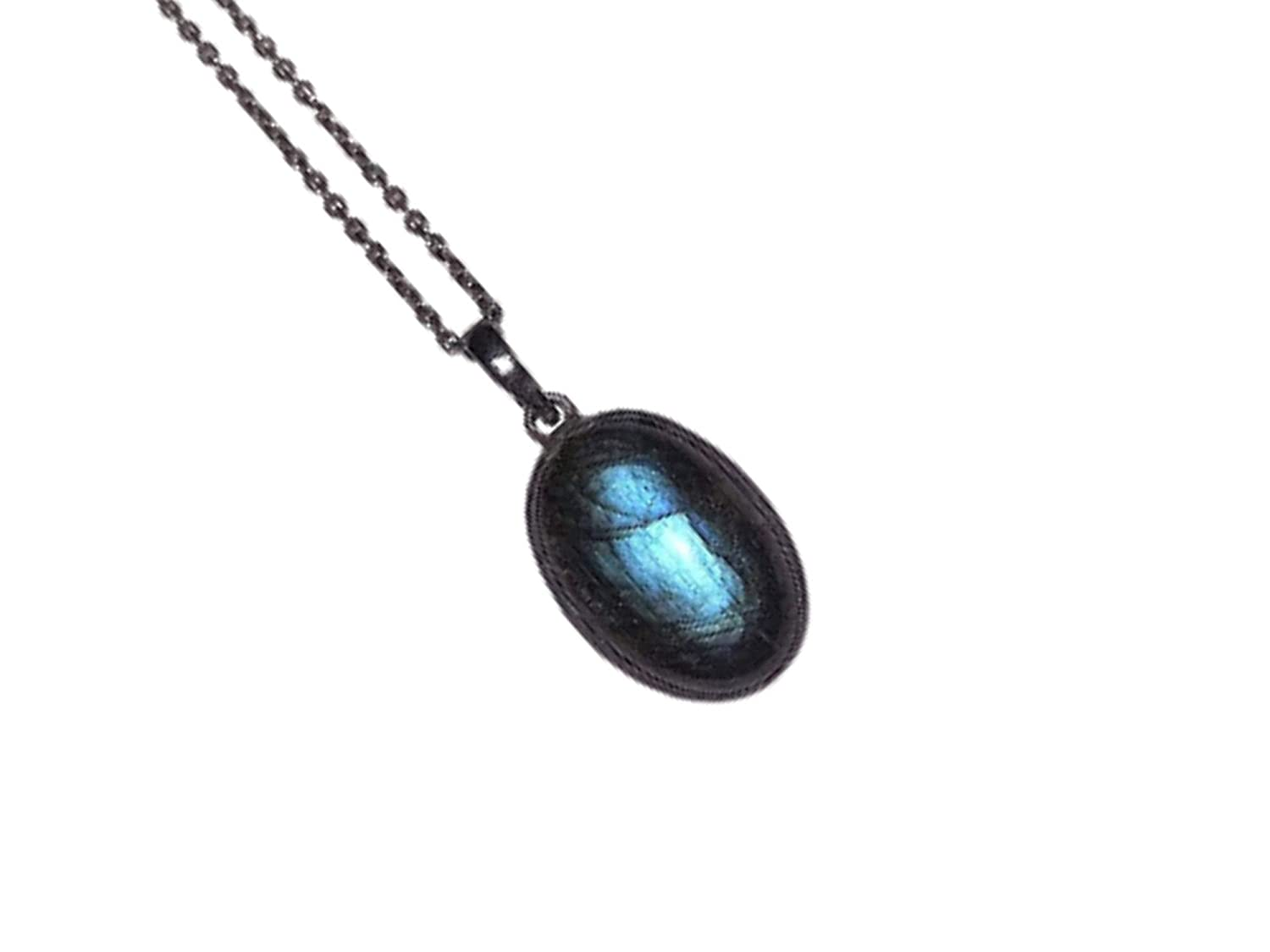 AGIRA Natural Labradorite Necklace Unisex New item Max 51% OFF Jewelry for Pendant