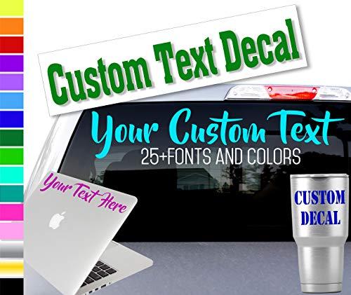 Custom Word Name Decal Sticker for Yeti RTIC Tumbler Cup, Laptop, Phones, and Vehicles