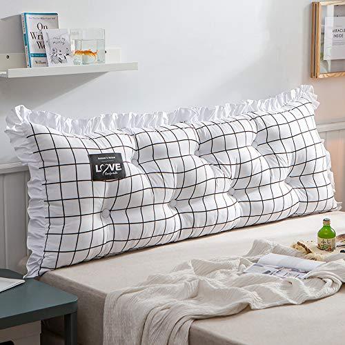 RUYII Nachttischkissen Großes Rückenlehnenkissen Rückenkissen Sitzkissen,D-150×45cm