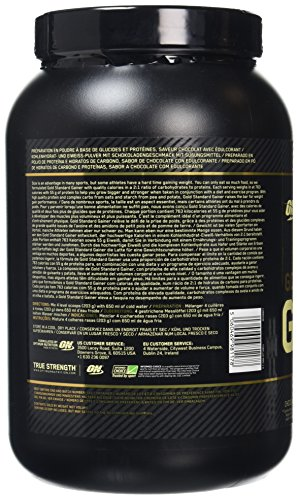 Optimum Nutrition ON Gold Standard Gainer, Mass Gainer Protein Powder for Muscle Gain and Recovery, Colossal Chocolate, 1.62 kg, 8 Servings