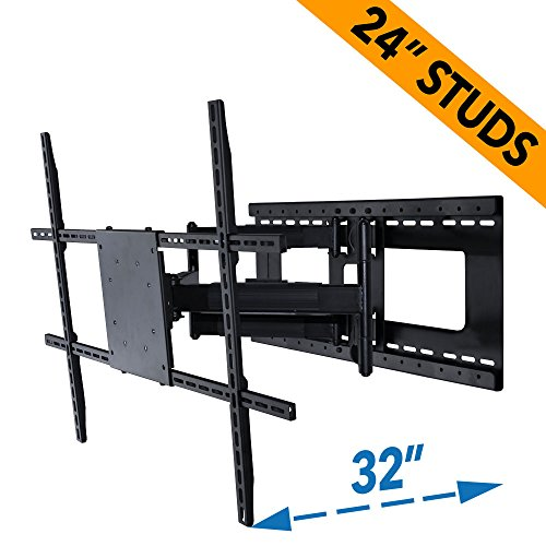 Full Motion TV Wall Mount with 28 inch Extension, Fits 37 to 70 Inch TVs, Installs on 24 or 16 Inch Studs (Aeon 45250-42-80 Inch TVs)