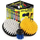 <span class='highlight'><span class='highlight'>Drillbrush</span></span> Attachment Boat Cleaning Drill Accessory Cleaning Brush Kit - Utilize The Power of Your Cordless Drill to Clean Boat Hulls, Carpet, Seats, Anti Skid/Nonslip Surfaces, Boat Decking and More