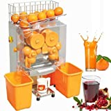 VEVOR Electric Orange Juicer Commercial Squeezer Machine Lemon Automatic Auto Feed, 110V, 304 Stainless Steel