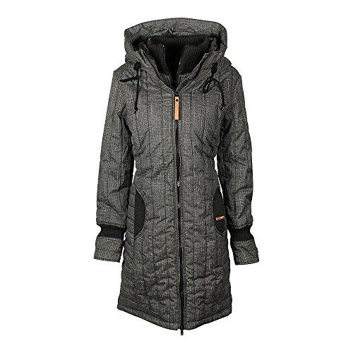 Khujo Mujer abrigo de invierno Jerry Prime gris oscuro