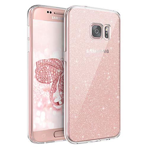 BENTOBEN Samsung Galaxy S7 Hülle Handyhülle Glitzer, Samsung Galaxy S7 Hülle Slim Glitzer Anti Gelb Silikon Bumper Cover Ultra dünn Hülle für Samsung Galaxy S7 G930 Bling Transparent
