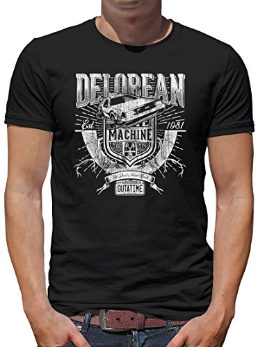 TShirt-People Delorean Machine Outatime T-Shirt Homme - Noir - Medium