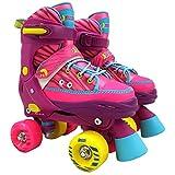 [page_title]-Best Sporting Rollschuhe für Kinder ab 5 Jahren, Größe verstellbar, ABEC 7 Carbon, Farbe: pink-gelb-blau, Größe: 28-31