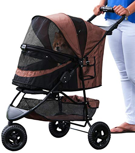 Pet Gear No-Zip Special Edition 3 Wheel Pet Stroller for Cats/Dogs, Zipperless Entry,...